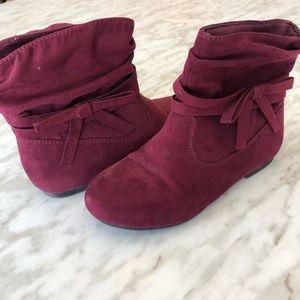 ✨2 for 25✨ George Faux Suade Wine Coloured Booties